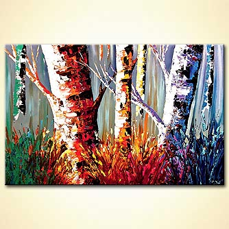 modern abstract art - Playful Forest