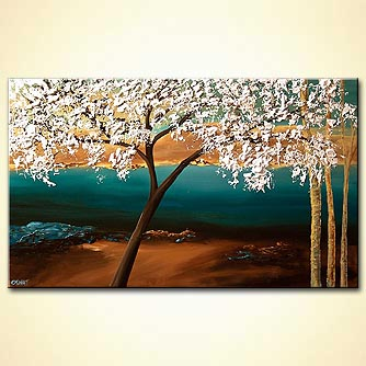 Forest painting - By the Almond Tree