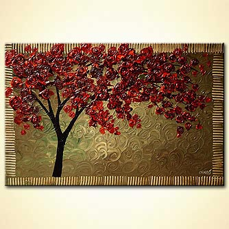 canvas print - Tree of Many Roses