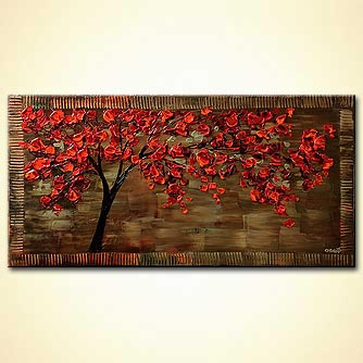 Forest painting - The Cherry Tree