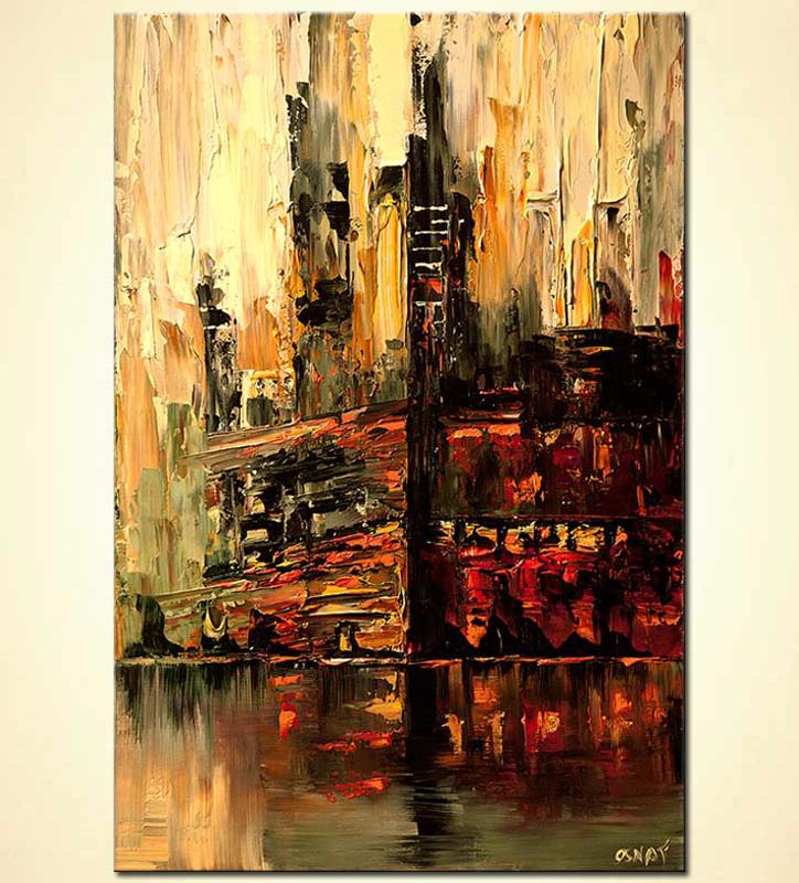 Abstract City Painting Artists