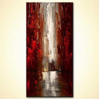Cityscape painting - Rain City