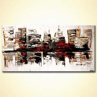 canvas print - City in White