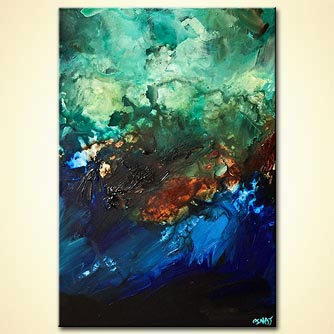 Abstract painting - Blue