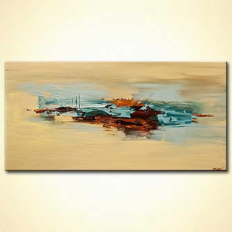 Abstract art by Osnat Tzadok - abstract painting in sandy and brown colors