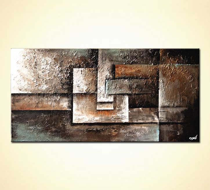 modern abstract art - Bricks of Sand