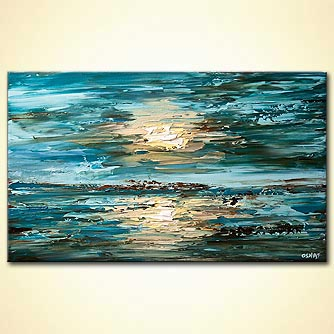 modern abstract art - The Sea