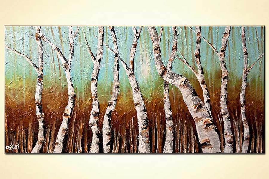 Birch Trees In Bright Day Horizontal