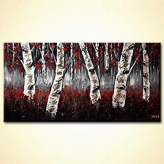 Forest painting - Birch Trees