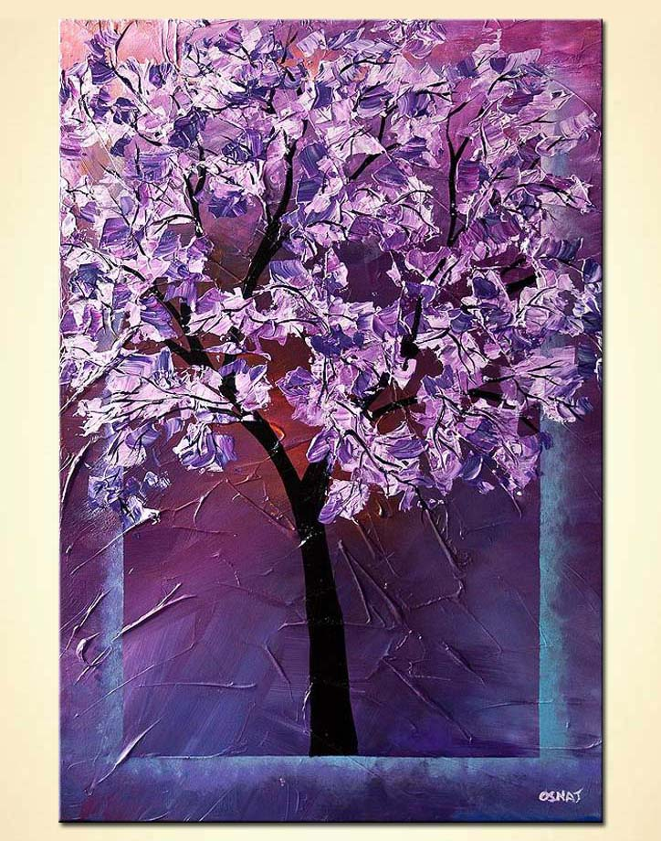 modern abstract art - Cherry Blossom