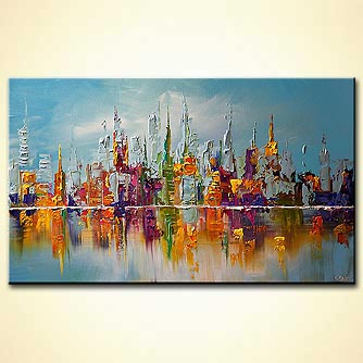 Giclee print - City View