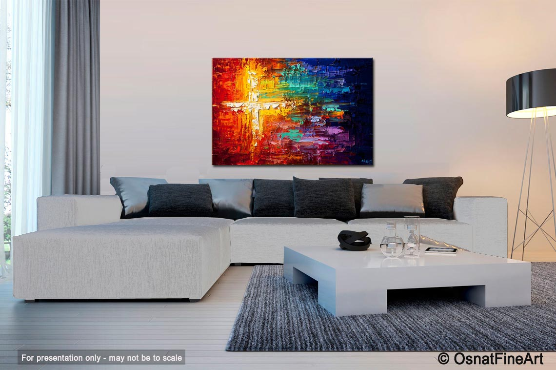 Painting on a living room background