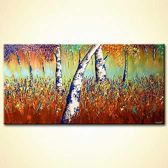 Forest painting - The Garden of Eve