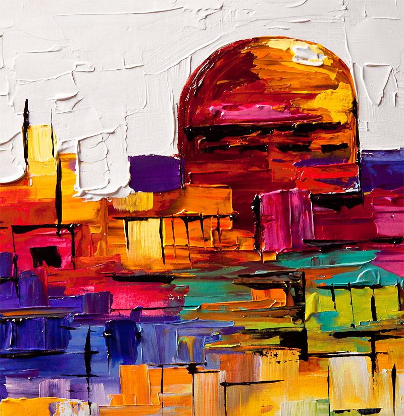 Painting For Sale Colorful Painting Of Jerusalem Golden