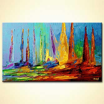 Seascape painting - Sailing