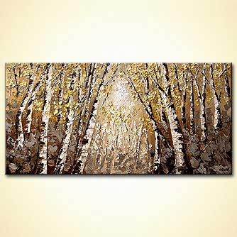Forest painting - The Silver Forest