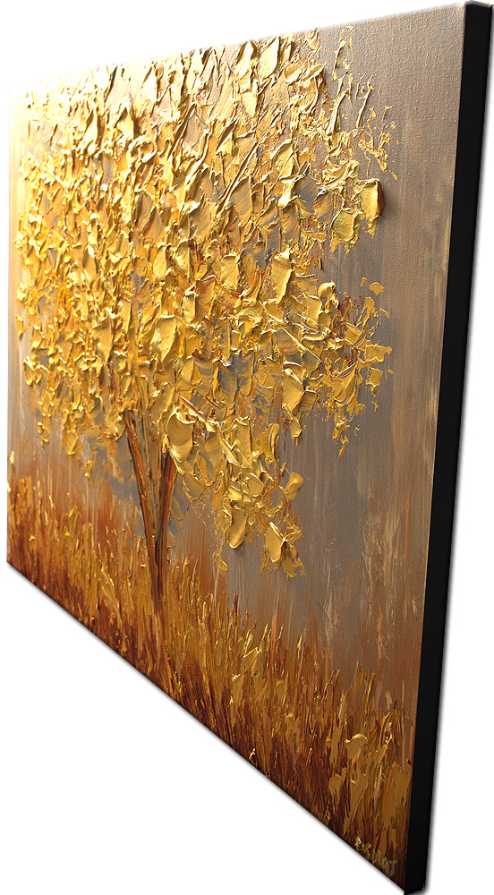 Painting For Sale Golden Tree Painting 6087