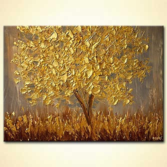 canvas print - The Golden Tree