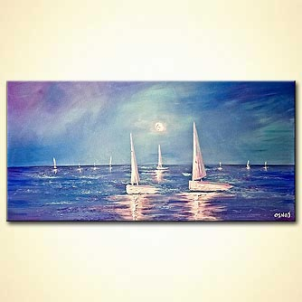 Seascape painting - Big Wide Ocean
