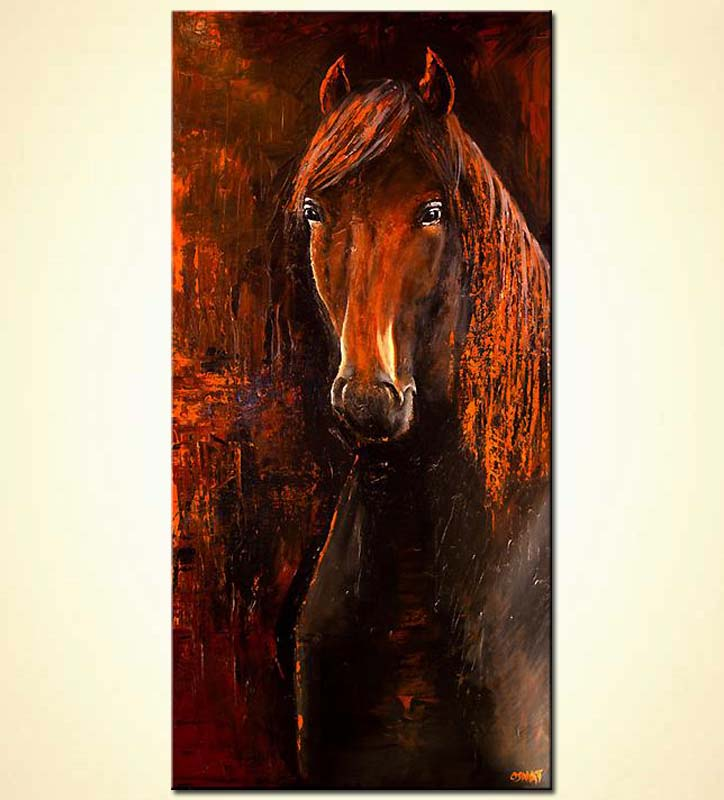 Buy Large Horse Painting Wall Decor Abstract 5991