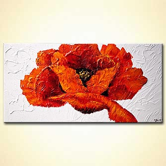 modern abstract art - Red Poppy