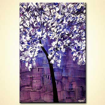 lavender tree painting