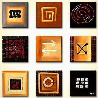 Abstract painting - Signs