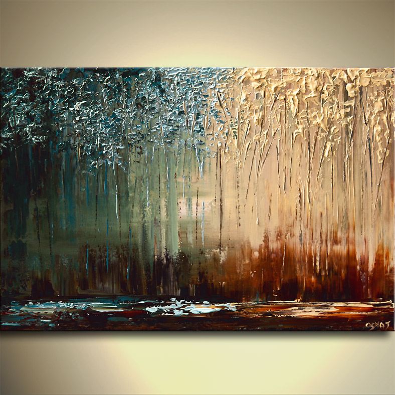 Painting painting of forest with thin trunks 6005 for Where to buy cheap artwork