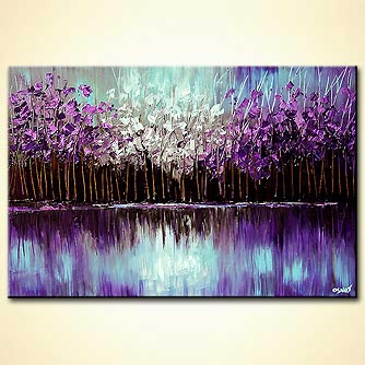 Forest painting - Reflection