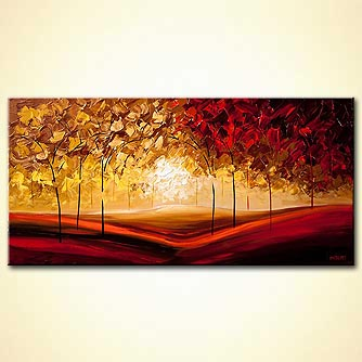 Forest painting - The Cherry Trees