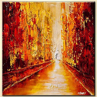 Cityscape painting - Dawn