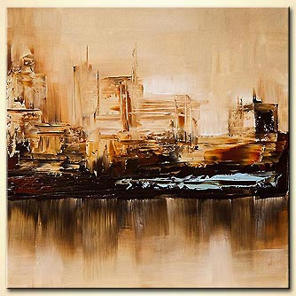 Cityscape painting - Blue District