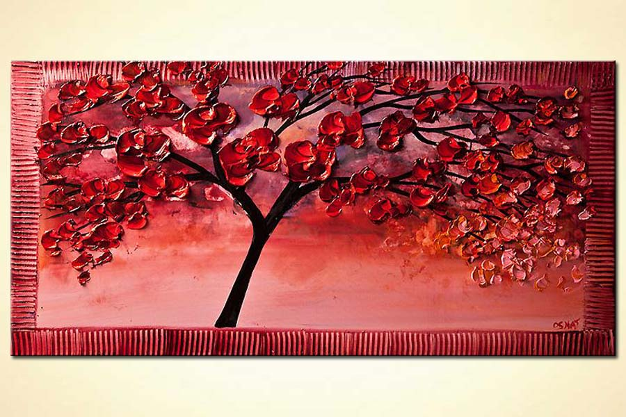 Painting For Sale Blooming Cherry Tree Painting 6105