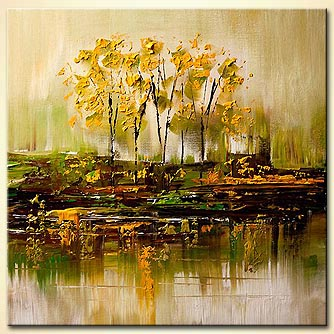 Forest painting - Yellow Blossom