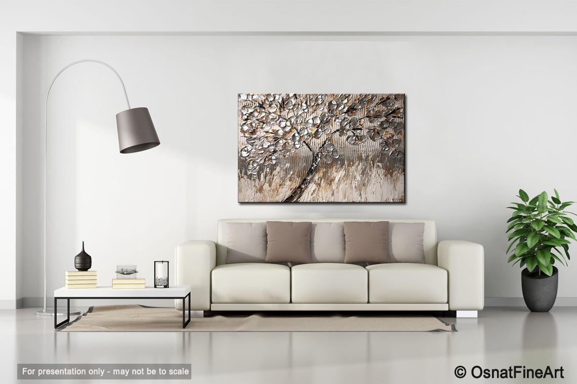 Painting For Sale Tree With Silver Leaves 6685