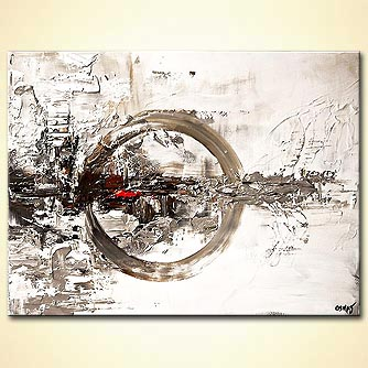 Abstract painting - Silver Moon