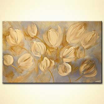 Floral painting - Yellow Tulip