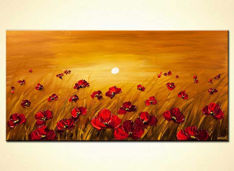 Painting for sale a field of poppy flowers on a sunrise background a field of poppy flowers on a sunrise background mightylinksfo