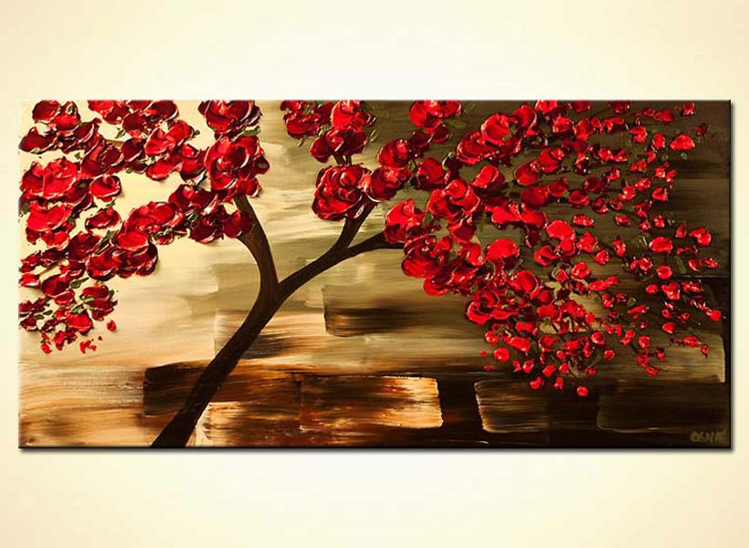 Painting For Sale Decorative Red Tree Painting 6142
