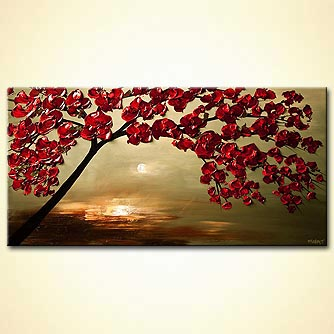 canvas print - Under the Cherry Tree