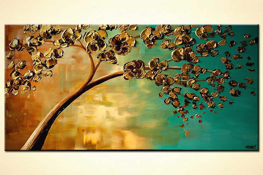 Painting For Sale Yellow Flowering Tree 6696