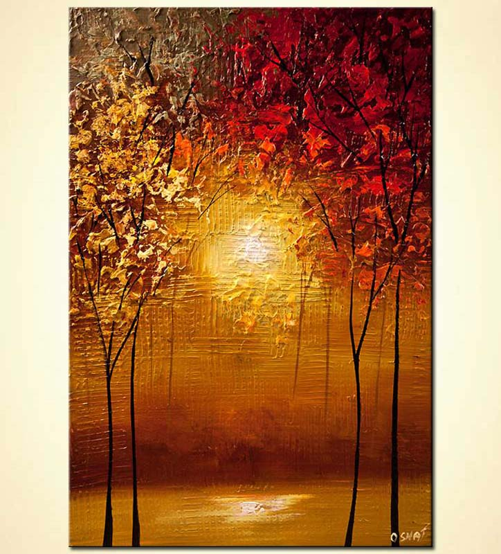 Painting contemporary abstract blooming trees painting 6166 for Modern abstract paintings for sale