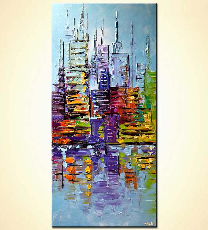 modern abstract art - City View