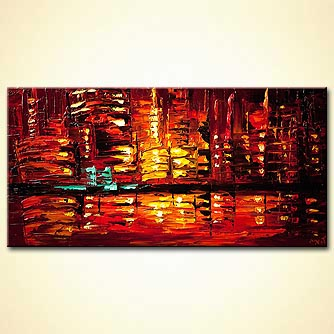 modern abstract art - City Rush
