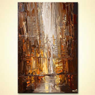 Cityscape painting - In the City