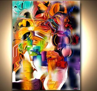 colorful abstract print on canvas
