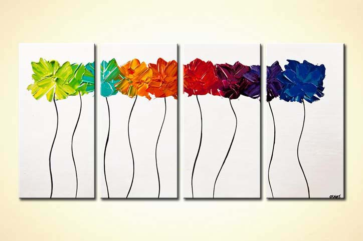 modern abstract art - Summer Flowers