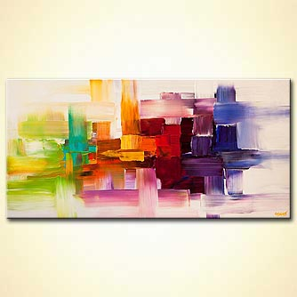 Abstract painting - Visual Thoughts