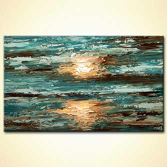textured abstract sea sunset