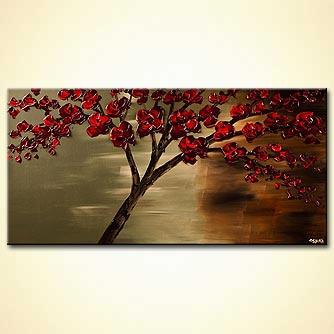 modern abstract art - The Rose Tree